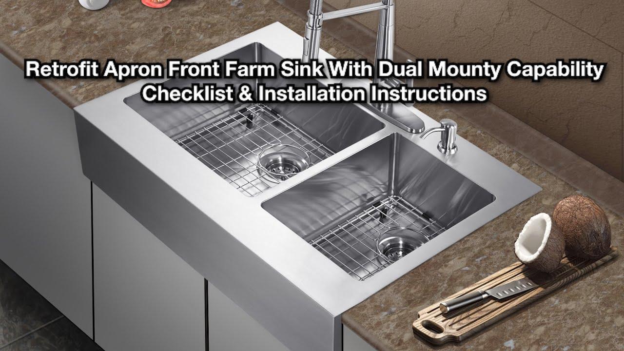 CMI   Top Mount Retrofit Farm Sink Installation Video   YouTube