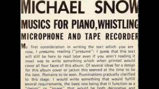 Michael Snow - Snow Variations on Darn It