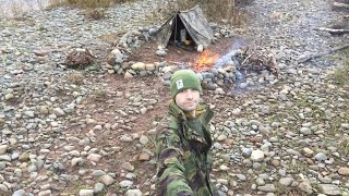 WINTER BEACH CAMP UNDER CANVAS AND PIT OVEN ROAST PORK