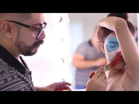 Body paint Guacamaya Parrot Emilio Golo Professional Makeup School