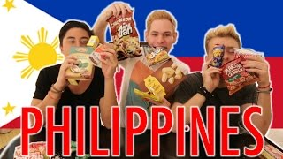 TRYING FILIPINO FOOD AND CANDIES!!