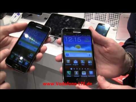 Samsung Galaxy S2 LTE (SII LTE) bei Vodafone auf der CeBIT 2012 + Demo LTE Telefonie