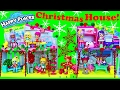 DOLLHOUSE MAKEOVER Shopkins HAPPY PLACES SEASON 2 New Party Studio House & Christmas Makeover Dolls