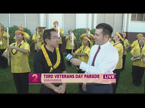 Take2:The sound of the Veteran's Parade with Sacred Hearts Academy