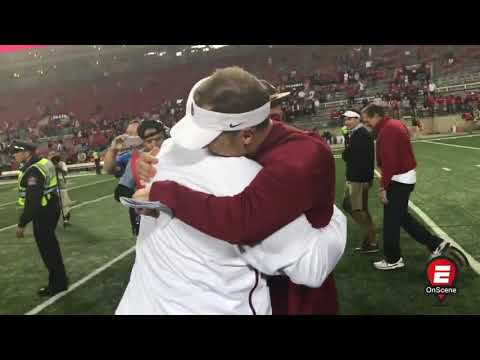 Oklahoma celebrates with Bob Stoops after upset at OSU | OnScene | ESPN[野球]