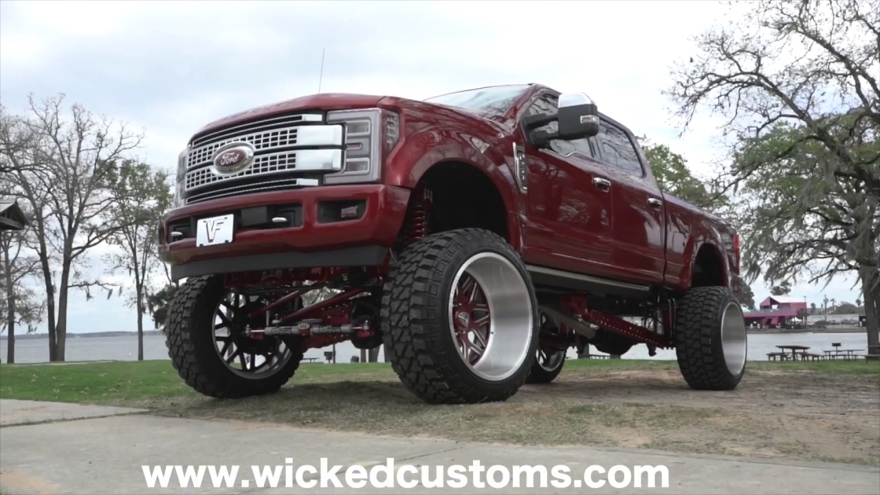 """2017 Ford F-350 Wicked Suspension 12"""" Colossal lift - YouTube"""