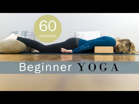 Beginner Restorative Yoga with Props | Yoga with Melissa 475