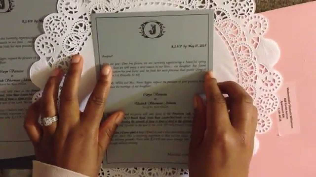 DIY Doily Wedding Invitation Invitation Directions - YouTube
