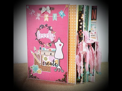 Tutorial *1/4 Echopark I`d rather be crafting   FolioBox with 4 folio`s