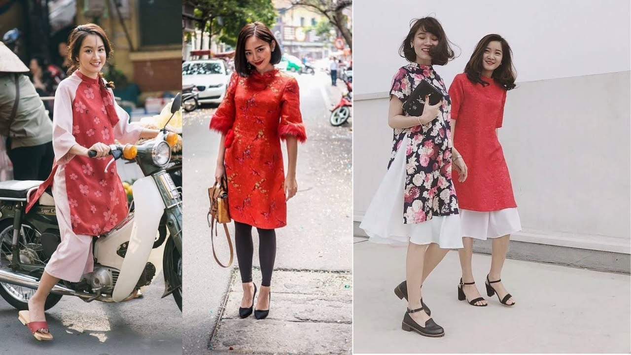 Áo dài Cách Tân, áo dài Truyền Thống, áo dài cưới 2019 ĐẸP (P2) – Áo dài cách tân Hiền Minh