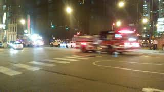 Chicago Fire Dept Squad 1, Truck 3 Engine 42 Responding