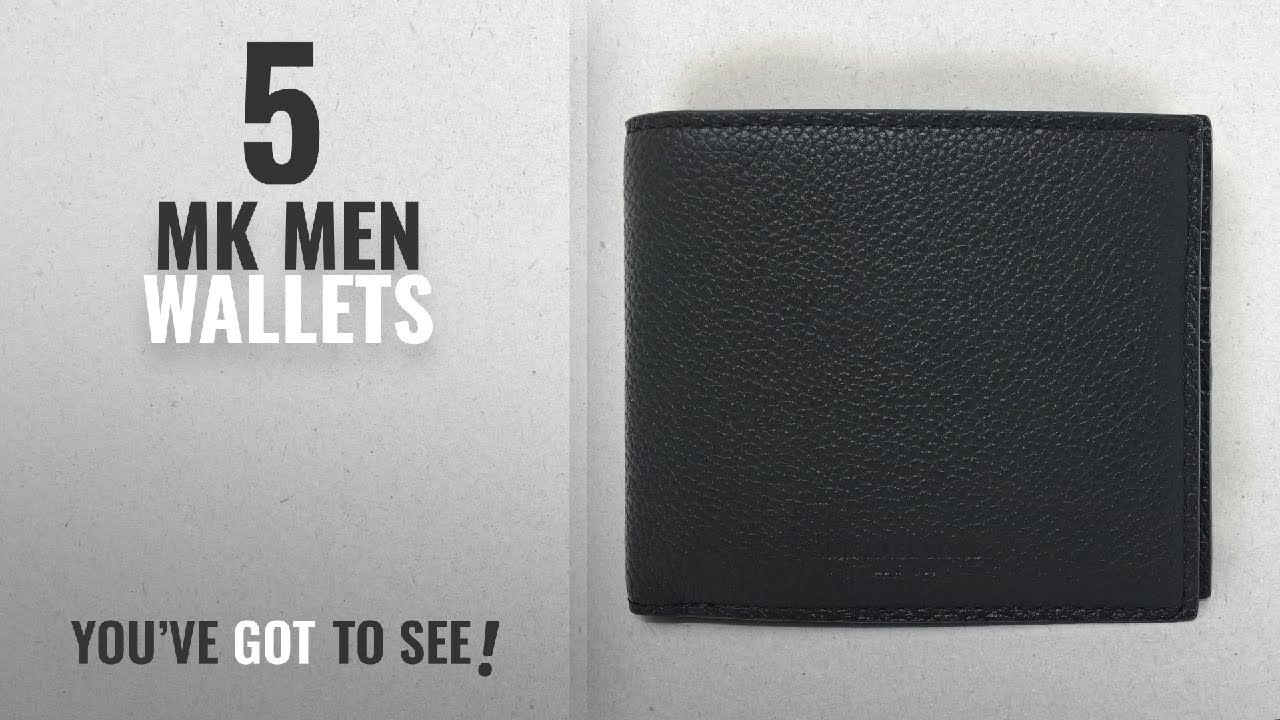 da19c97bbee1 Top 10 Mk Men Wallets   Winter 2018    Michael Kors Russel Leather Billfold  Wallet (Black)