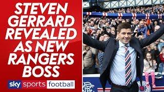 Steven Gerrard's first press conference as Rangers boss
