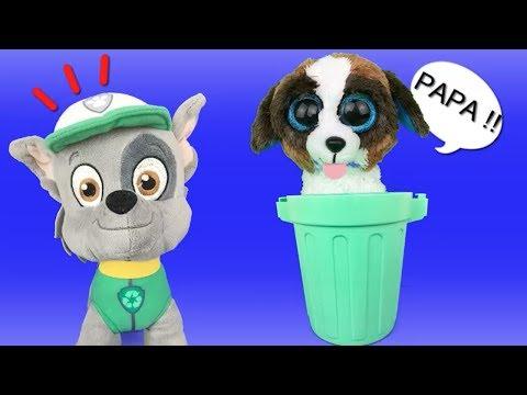 Patrulla canina juguetes español ROCKY PAW PATROL TIENE NUEVO BEBE CACHORRO Y APRENDEMOS A RECICLAR