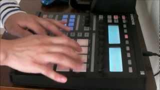 リズムマシン Playing the drums in rhythm machine 【Native Instrument Maschine Part.1】