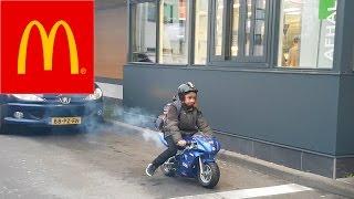 6 YEAR OLD MOTORBIKE DRIVE-THRU PRANK ( MACDRIVE )