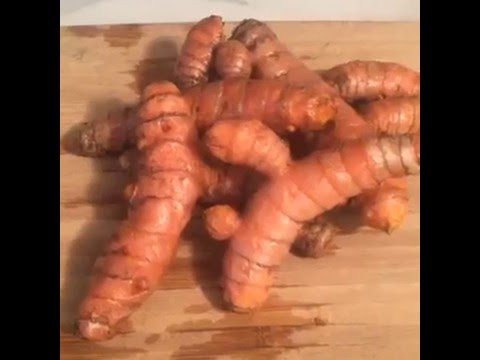How to prepare fresh turmeric root