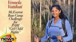 Vennela Vattikuti Climbs Mt Everest Base Camp Challenge For PARI Girl Child Rights | Mango News