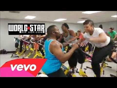 Workout Class Doing Exercise Routine To Webbie's