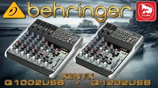 BEHRINGER XENYX Q1002USB , Q1202USB - микшеры серии XENYX Q