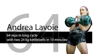 Andrea Lavoie | kettlebell sport long cycle 2 x 24 kg kettlebells - 64 reps
