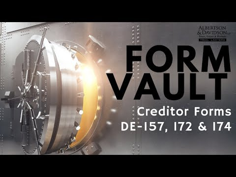 California Probate Creditor's Forms