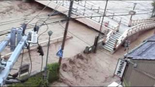 金沢浅野川水害 堤防切れ目からの浸水被害 thumbnail