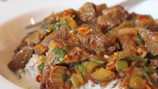 Orange Zest Beef - Quick Spicy Orange Beef - Easy Low-fat Alternative To Chinese Take-out