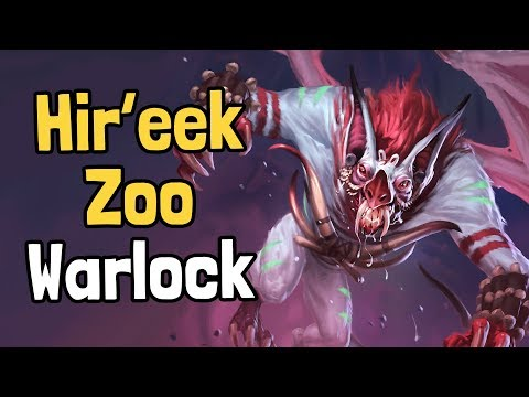 How Big Can Hir'eek Get? - Hir'eek Zoo Warlock Decksperiment - Hearthstone