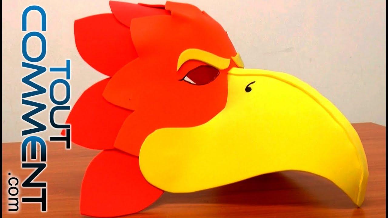 Comment faire un masque d 39 oiseau youtube - Masque oiseau a imprimer ...