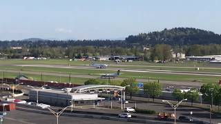AIR ITALY FIRST BOEING 737-8MAX TAKEOFF PORTLAND INTERNATIONAL AIRPORT (First On Youtube)