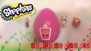Shopkins and Perkins Easter egg blind bag dig Toy Review and Unboxing