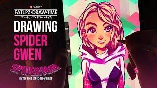 Drawing SpiderGwen(Into The Spider Verse)| Fatlipz