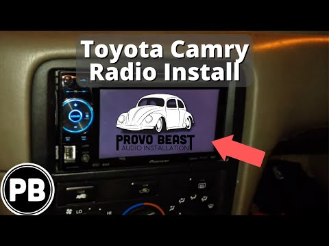 1997 - 2001 Toyota Camry Stereo Removal and Replacement With Pioneer AVH-P1600DVD