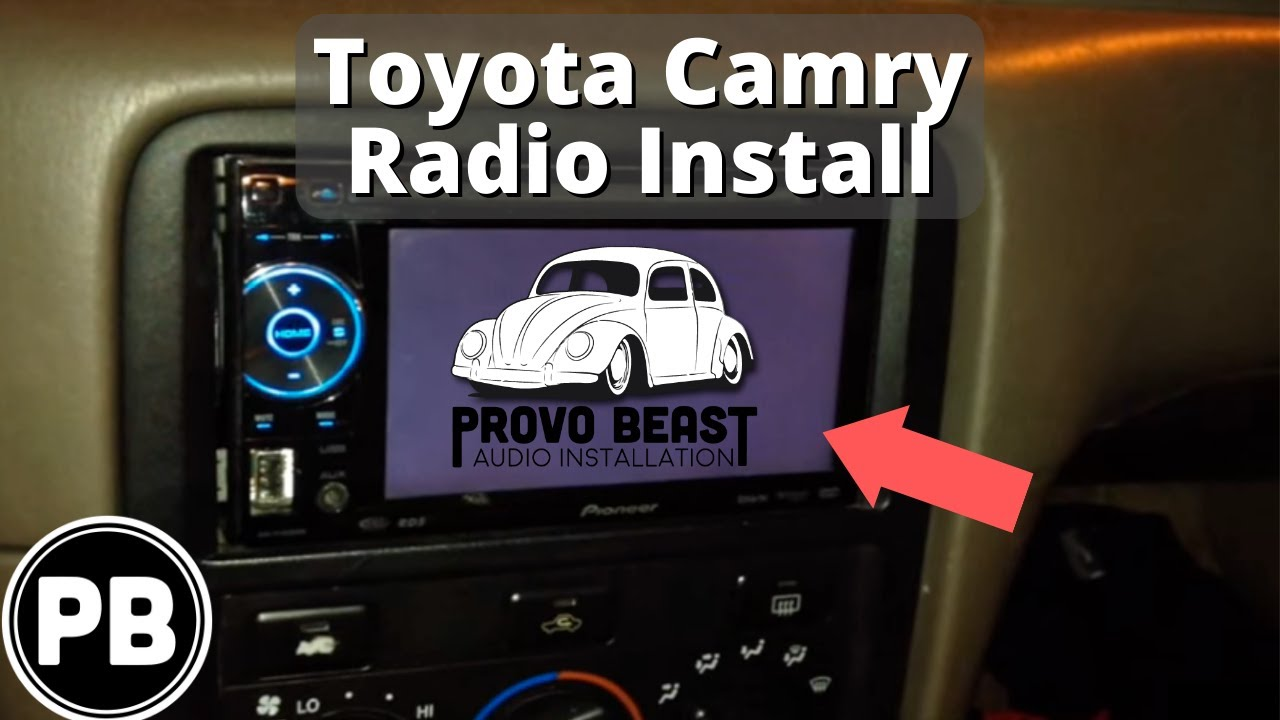 small resolution of 1997 2001 toyota camry stereo removal and replacement with pioneer avh p1600dvd