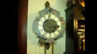 Wooden Wheeled Wall Clock With Verge Escapement