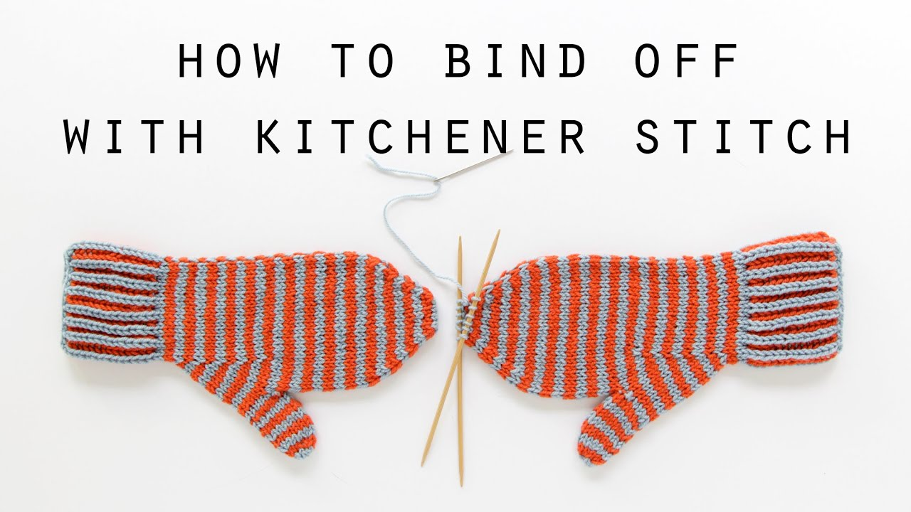 How to bind off with kitchener stitch | Hands Occupied - YouTube