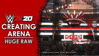 WWE 2K20 Create An Arena: Huge RAW Arena!!