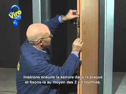 serrure larder avec cylindre s rie 700 et rosace de suret youtube. Black Bedroom Furniture Sets. Home Design Ideas