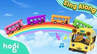 Travel with Color Bus | Back to School! | Sing Along with Hogi | Nursery Rhymes | Pinkfong & Hogi