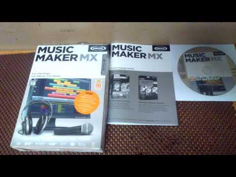 Magix Music Maker MX unboxing