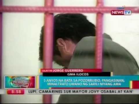 BP: 5 anyos na bata sa Pozorrubio, Pangasinan, minaltrato umano ng sarili niyang ama