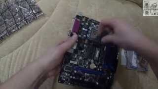 Unboxing&bios материнской платы MSI G41M-P33 COMBO