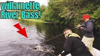 Bass Fishing From Pontoon boat - Willamette River (OR)