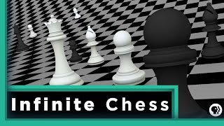How long will it take to win a game of chess on an infinite chessbo...