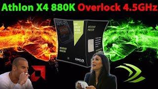 разгон AMD Athlon X4 880K до 4,5GHz  разгон памяти до 2133GHZ