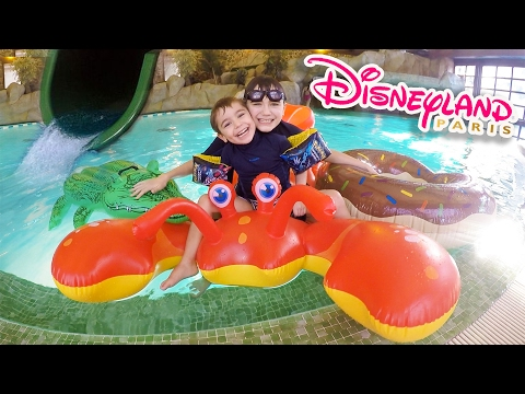 DÉFIS PISCINE & TOBOGGAN FUN au SEQUOIA LODGE DISNEYLAND PARIS 💦