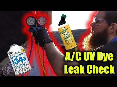 A/C UV Dye Leak Check