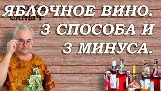 ЯБЛОЧНОЕ вино - 3 способа и 3 МИНУСА! / Самогон Саныч