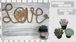 DOLLAR TREE FARMHOUSE DIY WALL DECOR
